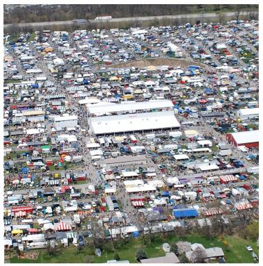 Carlisle Fairgrounds Swap Crowd